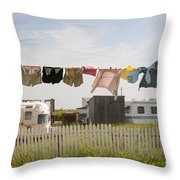 Trailers In North Rustico Throw Pillow by Elena Elisseeva