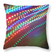 Trailing Xmas Lights Throw Pillow