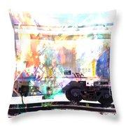 Train Abstract Blend 4 Throw Pillow