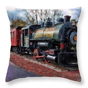 Train At Olmsted Falls - 1 Throw Pillow