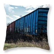 Train Boxcars Throw Pillow