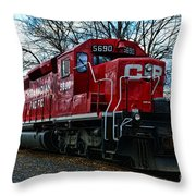 Train - Canadian Pacific 5690 Throw Pillow
