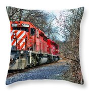Train - Canadian Pacific Engine 5937 Throw Pillow