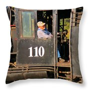 Train Conductor Throw Pillow