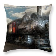 Train - Engine - 6 Nw Class G Steam Locomotive 4-6-0  Throw Pillow by Mike Savad
