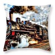 Train II Throw Pillow