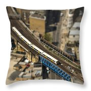 Train In London Throw Pillow