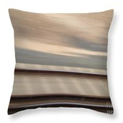 Train In Motion - On The Way To San Diego Throw Pillow