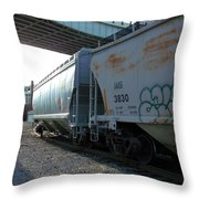 Train In The City Throw Pillow