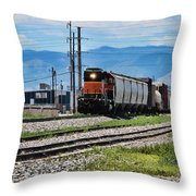 Train In The Mile High Throw Pillow