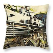 Train Is Coming Two Throw Pillow