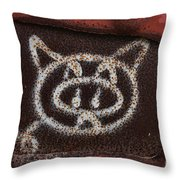 Train Kitty Throw Pillow
