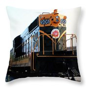 Train Museum - End Of The Line - Canadian National Railway Throw Pillow