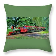 Train - New Orleans City Park Throw Pillow