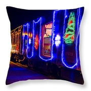 Train Of Lights Throw Pillow