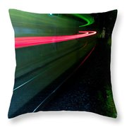 Train Pass By Throw Pillow