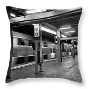 Train Passing Throw Pillow