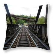 Train Pov Throw Pillow