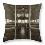Train Ride Throw Pillow