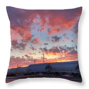 Train Setting Throw Pillow