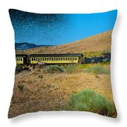 Train-sitions Throw Pillow
