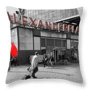 Train Station Alexanderplatz Throw Pillow
