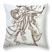 Music At The Station Throw Pillow