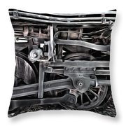 Train - The Wheels Are Turning  Throw Pillow