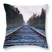 Train Tracks To Nowhere Throw Pillow