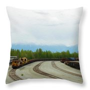 Train Tracks Throw Pillow