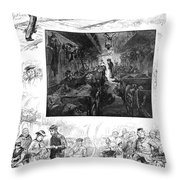 Train Travel, 1883 Throw Pillow