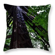 Train Trestle In The Woods Throw Pillow