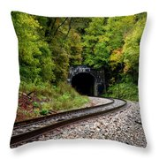 Train Tunnel Throw Pillow
