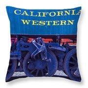 Train Wheels Throw Pillow