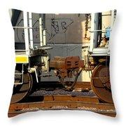 Train Yard Close Up 5 Throw Pillow