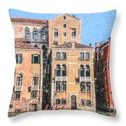 Training On The Grand Canal Throw Pillow
