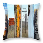 Trains And Coal Mining Throw Pillow