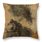 Trains Of The Old West Throw Pillow