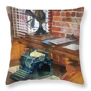 Trains - Station Master's Office Throw Pillow