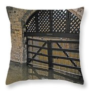 Traitor's Gate Throw Pillow