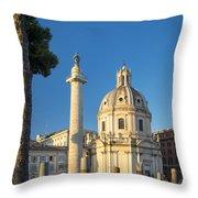 Trajans Column - Rome Throw Pillow
