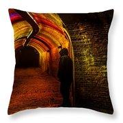 Trajectum Lumen Project. Ganzenmarkt Tunnel 9. Netherlands Throw Pillow