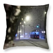 Tram On The  Street 3 Throw Pillow