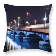 Tram Over A Bridge Throw Pillow