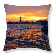 Tramonto Veneziano Throw Pillow