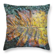 Trampled Leaf Throw Pillow