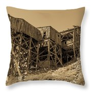 Tramway Headhouse Throw Pillow