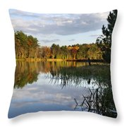 Tranquil Autumn Landscape Throw Pillow