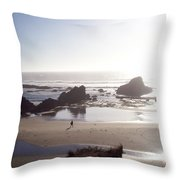 Tranquil Beach Throw Pillow