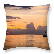 Tranquil Cruise Throw Pillow